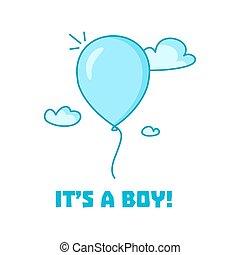 Baby boy shower invitation card