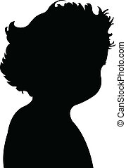 baby boy silhouette vector