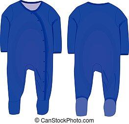 Baby boy sleep suit vector