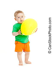 baby boy with yellow ballon