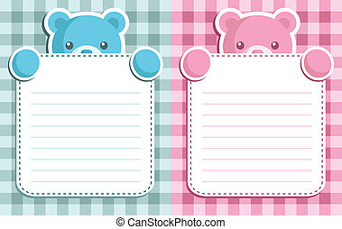 Baby boy/girl shower invitation - Vector invitation cards...