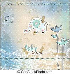 baby brusebad, card