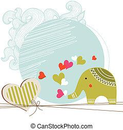 baby brusebad, card, skabelon