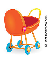 Baby Buggy. Vector illustration.