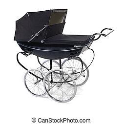baby buggy/pram on white