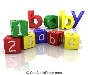 Baby building blocks