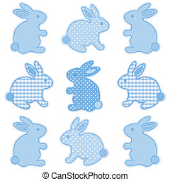 baby, bunnies, gingham, polka punten