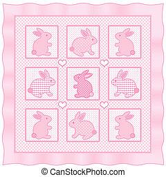 Baby Bunny Rabbits Quilt - Baby bunny rabbits, big hearts, ...
