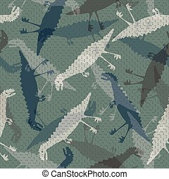 baby camo-08 - Trendy child camouflage with dinosaurs....