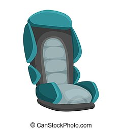 Baby car seat cartoon flat style. Safety baby seat vector illustration isolated on a white background