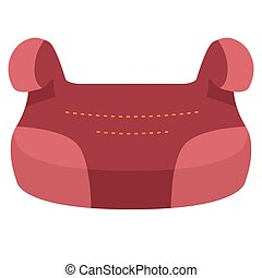 Baby Car Seat Group 3, Front View Isolated On A White Background. Vector Illustration.