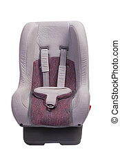 Baby car seat isolated on white bac