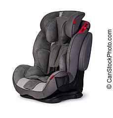 baby car seat  isolated on white