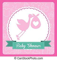 baby card  , vector illustration