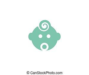 Baby care logo vector
