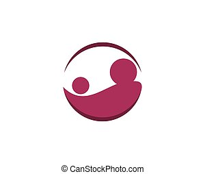 Baby care logo vector icon template