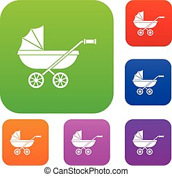 Baby carriage set color collection