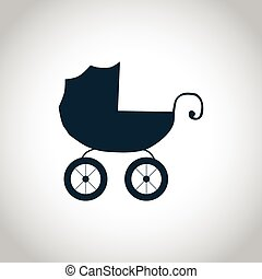 Baby carriage simple icon