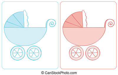 Baby carriage.