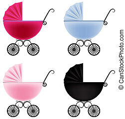 Baby carriage - Vector illustration of a baby carriage