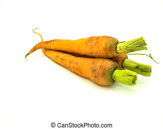 Baby carrot on isolated white background