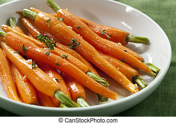 Baby Carrots - Baby carrots cooked with garlic, honey and ...