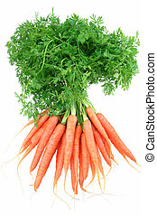 Baby Carrots - Bunch of baby carrots, isolated on white.