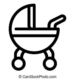 Baby cart icon, outline style