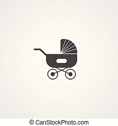 baby cart vector icon sign symbol