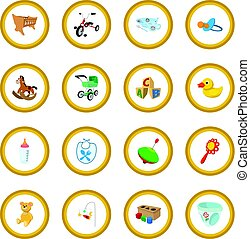 Baby cartoon icon circle