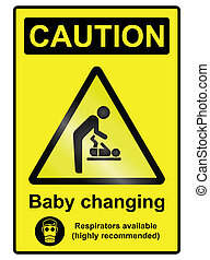 Baby Changing Hazard Sign