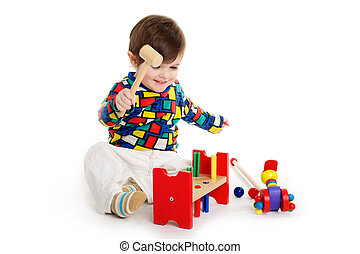 Baby Child playing with toys