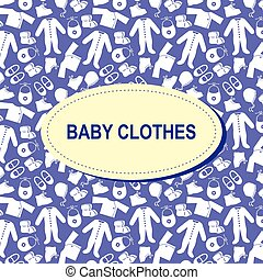 Baby clothes background