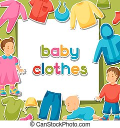 Baby clothes. Background with clothing items for newborns...