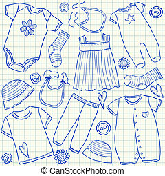 Baby clothes doodles