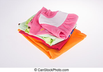 baby clothes on a background