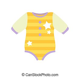 Baby Clothes Romper Suit, Vector Illustration - Baby...