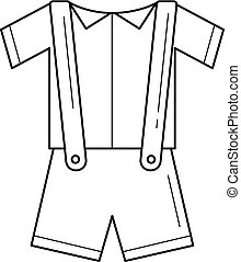 Baby clothes vector line icon.
