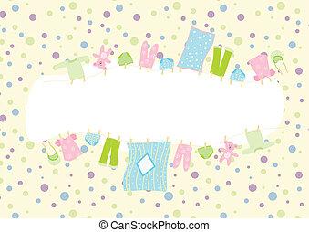 baby clothing frame