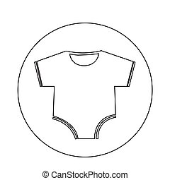 Baby clothing icon
