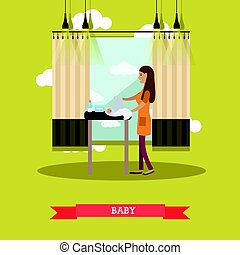 Baby concept vector illustration in flat style