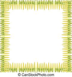 Baby corns frame isolated on white background