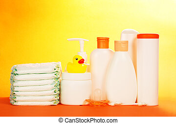 Baby cosmetics and diapers