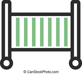 Baby Cot - Baby, cot, sleeping icon vector image. Can also ...