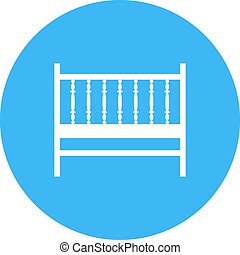 Baby Cot - Cot, baby, bed icon vector image. Can also be ...