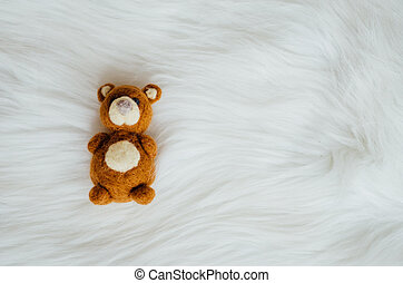 Baby cot for newborns with a toy