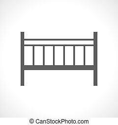 Baby cot icon isolated on white background