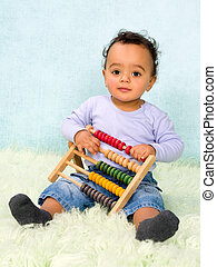 Baby counting with abacus