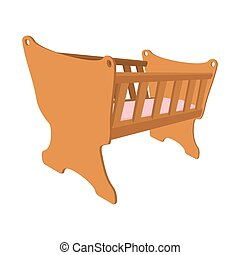 Baby cradle cartoon icon