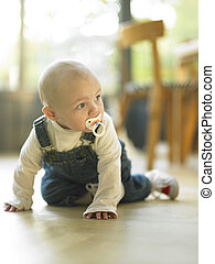 Baby Crawling on Floor